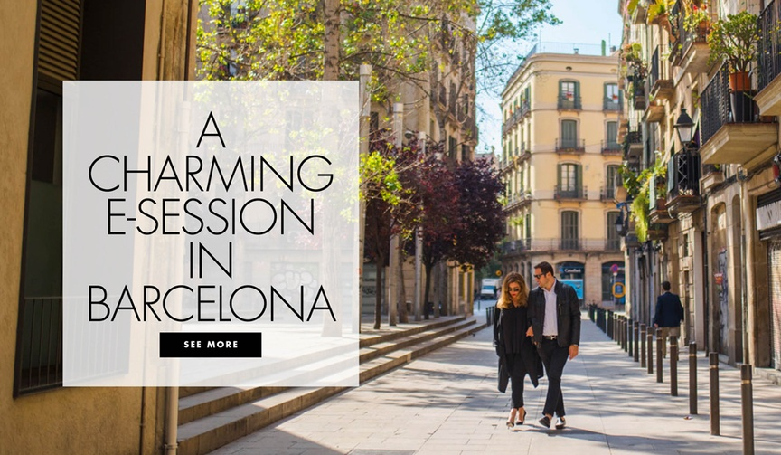 A charming engagement shoot in barcelona, spain michelle durpetti and collin pierson