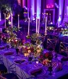 Seattle Mariners Marc Rzepczynski's wedding, Vibiana wedding, purple lighting, dark wedding colors