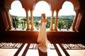 Bride on Moroccan balcony at The Grand Del Mar