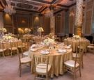 the drake hotel gold coast room wedding reception, gold wedding colors