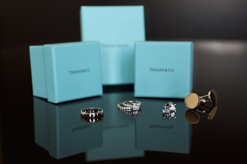 Tiffany & Co. blue box with diamond bands
