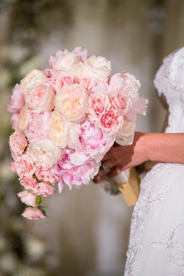 wedding bouquet with garden rose and pink peony - Garden Rose And Peony Bouquet