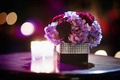 Hydrangea flower arrangement with crystal wrap