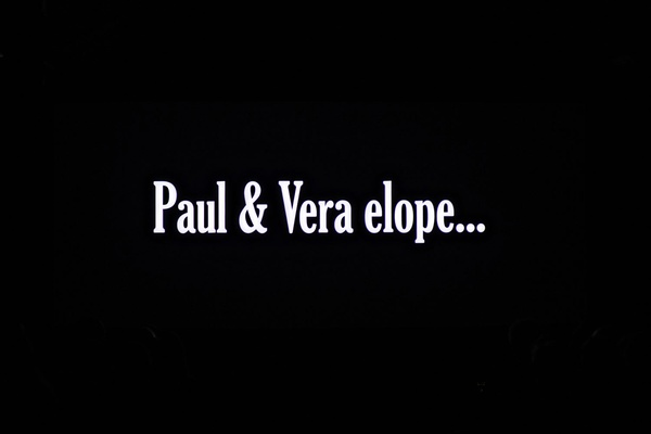 paul and vera elope sign wedding anniversary party
