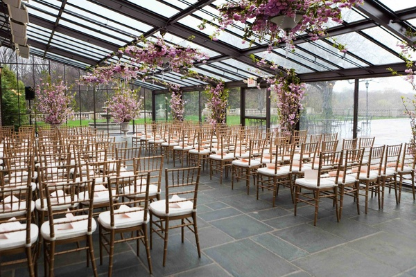Outdoor Park Or Indoor Room For Wedding Ceremony: Great Gatsby-Inspired Spring Wedding In New York