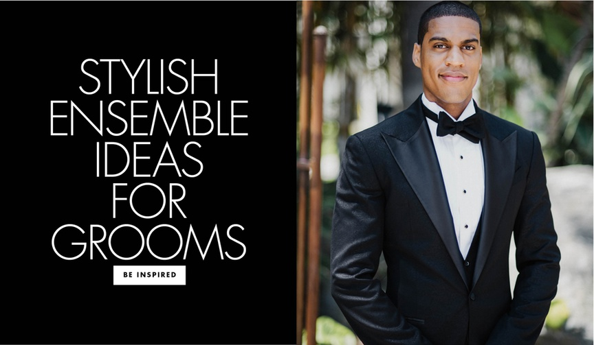 Take a step back from tradition and view inspiring ensembles worn by fashionable grooms.