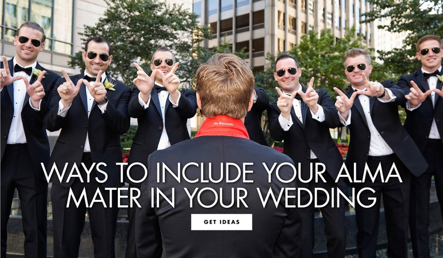 how to include your college or alma mater in your wedding day