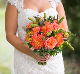 Bold, Red and Orange Bouquet