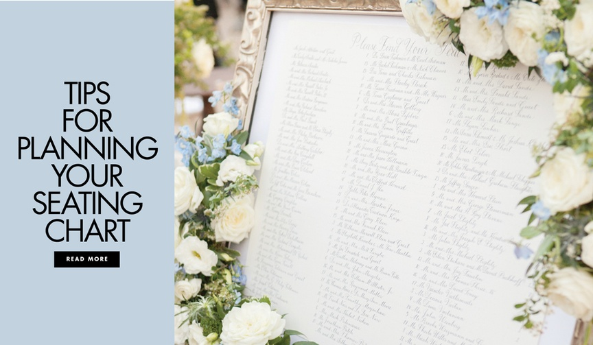 Discover how to make the perfect seating chart for your wedding.