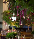 lanterns, candles, reception lighting