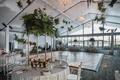 hotel maya wedding reception, modern wedding with tropical touches