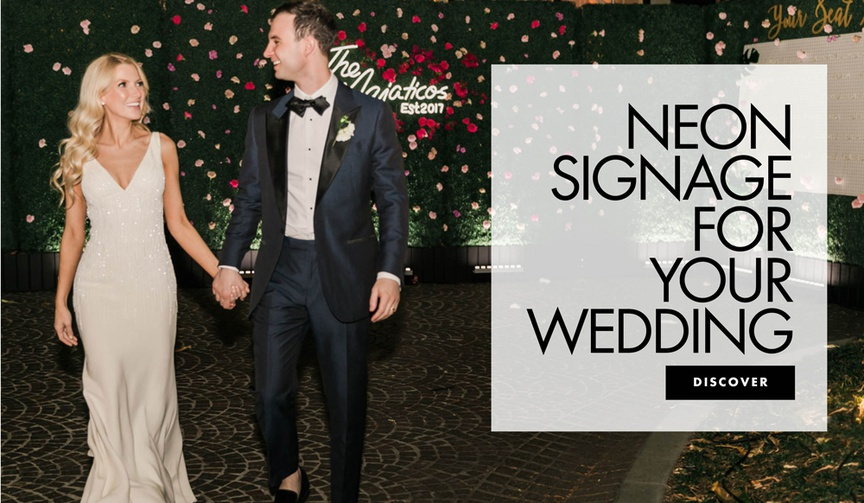 neon signage for your wedding decor ideas neon signs