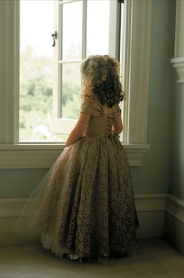 old world italian flower girl dress