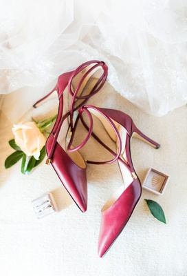 wedding accessories red wedding shoes two pairs stiletto for ceremony and chunky heel for reception