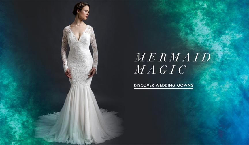 Mermaid wedding dress silhouettes