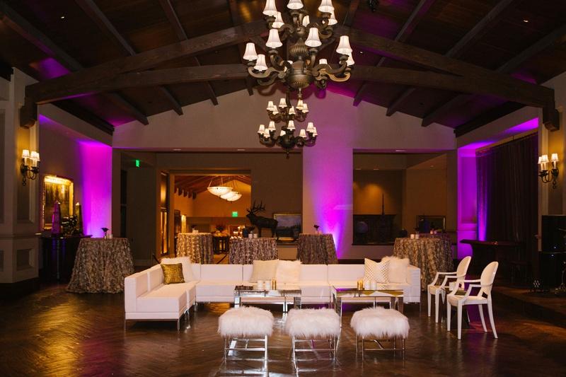 Reception Dcor Photos White Lounge Area Purple Lighting