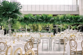 wedding reception cleveland museum of art centerpieces designed by heatherlily gold lucite chairs