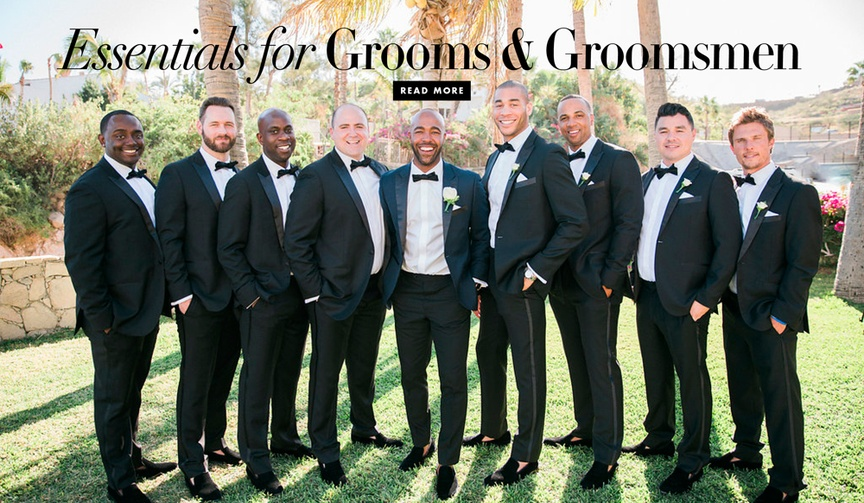 The things your groom and his groomsmen need for the wedding day to be prepared
