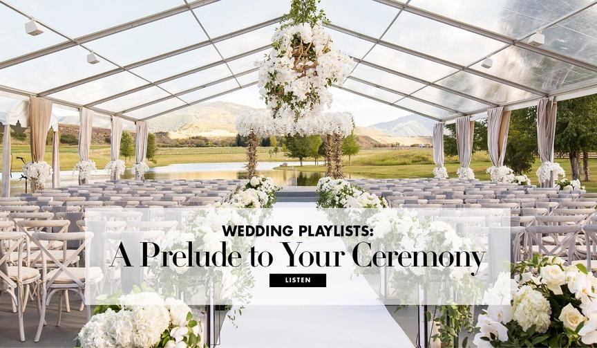 romantic pre-ceremony playlist