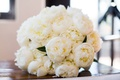 wedding bouquet white peonies with green leaves peony flower bouquet