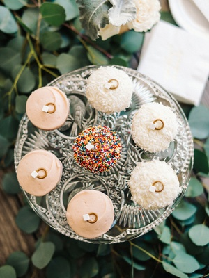 engagement party inspiration, sprinkles cupcakes