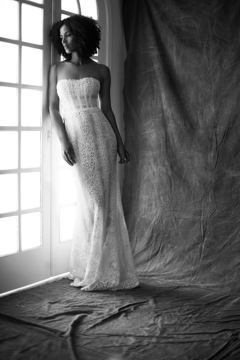 Francesa Miranda fall 2019 bridal collection wedding dress Serena fit-and-flare crystals