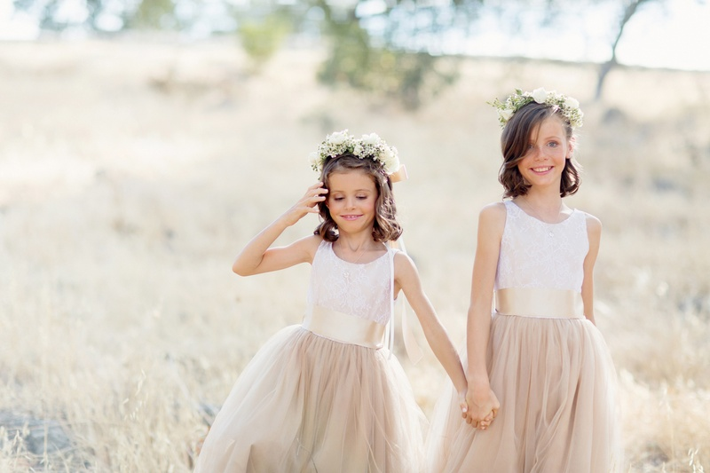 Bridesmaid Dresses In Neutrals Champagne Beige And Pale: Flower Girls & Ring Bearers Photos