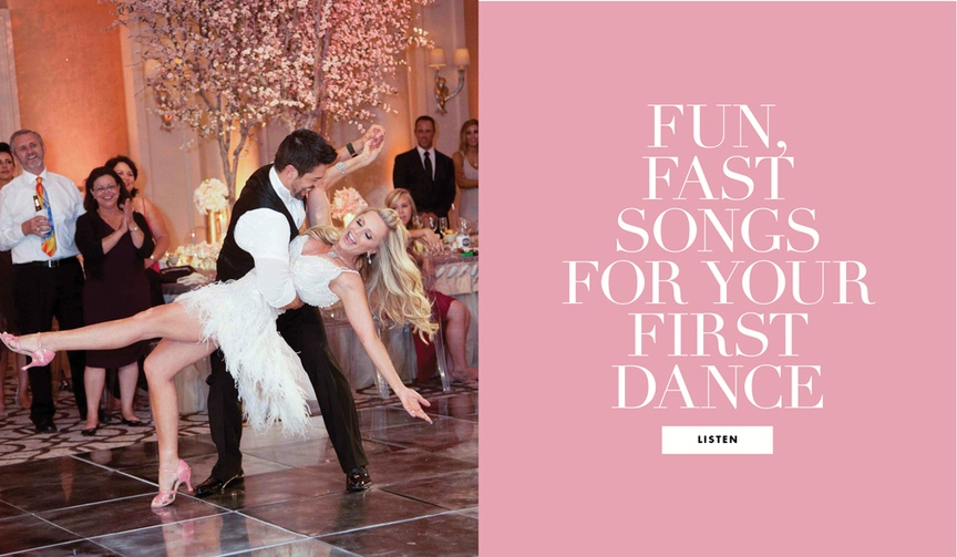 fast first dance songs, upbeat songs for your first dance