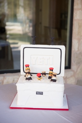 Yeti cooler filled with fondant beer bottles