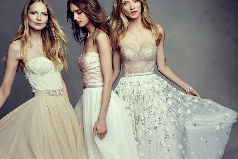 Beige Lace Bhldn Wedding Dress Or Bridesmaid Gown: Two-Piece Gowns By BHLDN