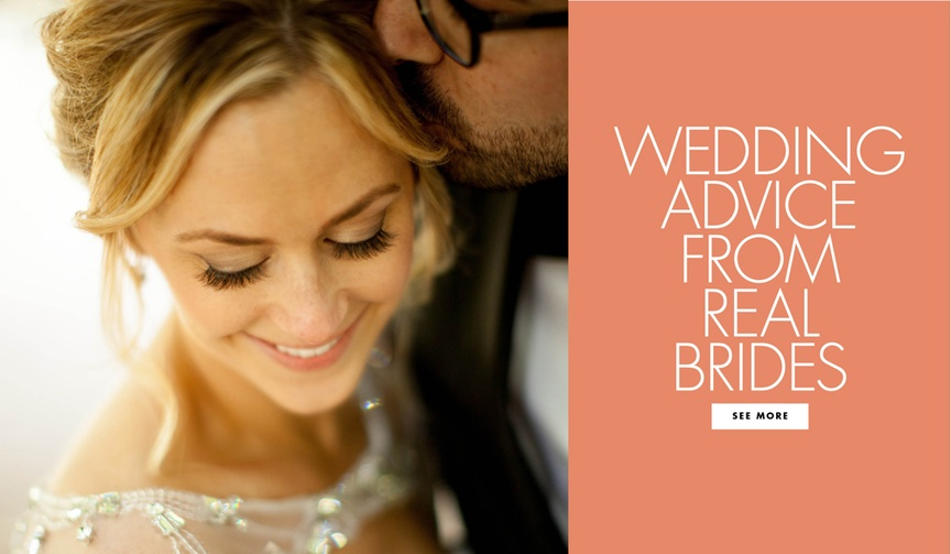 Wedding advice from real brides Inside Weddings couples