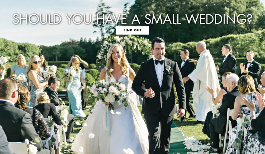the benefits to having a smaller, intimate wedding