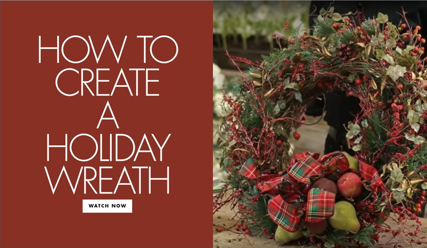 how to diy a holiday wreath, make your own holiday wreath for christmas
