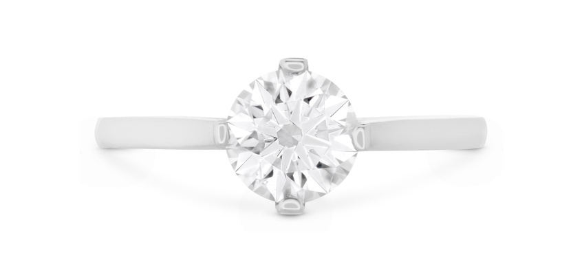 Hearts On Fire solitaire engagement ring Deco Chic style