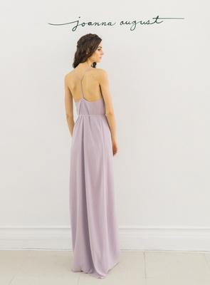 Joanna August 2016 purple racer back bridesmaid dress