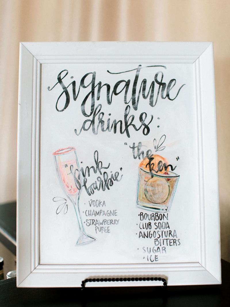 Wedding Signature Drinks.Invitations More Photos Signature Drink Menu With Illustrations
