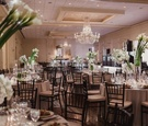 country club wedding with contemporary decor, modern wedding reception