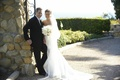 Groom and bride at Gull's Way in Malibu California