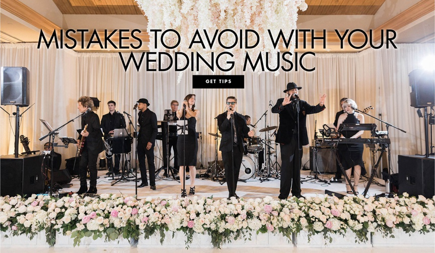 what music mistakes to avoid on your wedding day, how music can impact your wedding