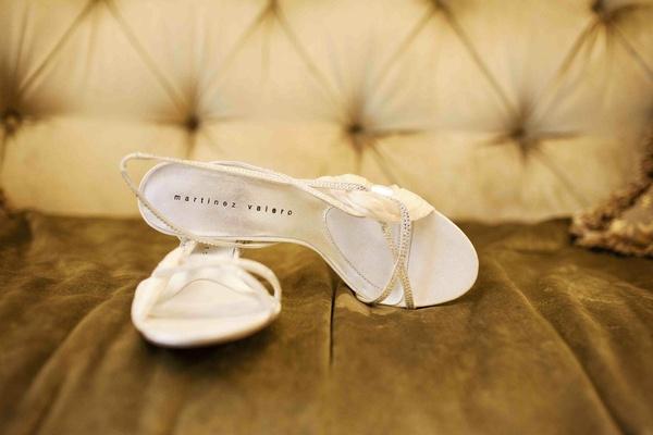 Martinez Valero white wedding heels