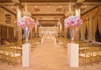 the drake hotel gold coast room with pink and white roses for wedding
