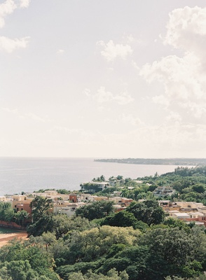 View from villa at Vizcaya in Miami florida winter wedding destination wedding idea ocean view