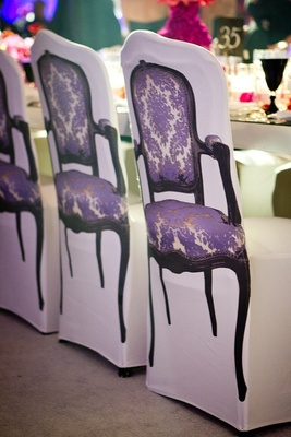 White wedding chair covers with picture of armchair
