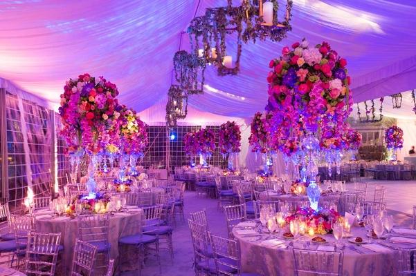 Pink amp Purple Garden Inspired Tented Wedding In New York