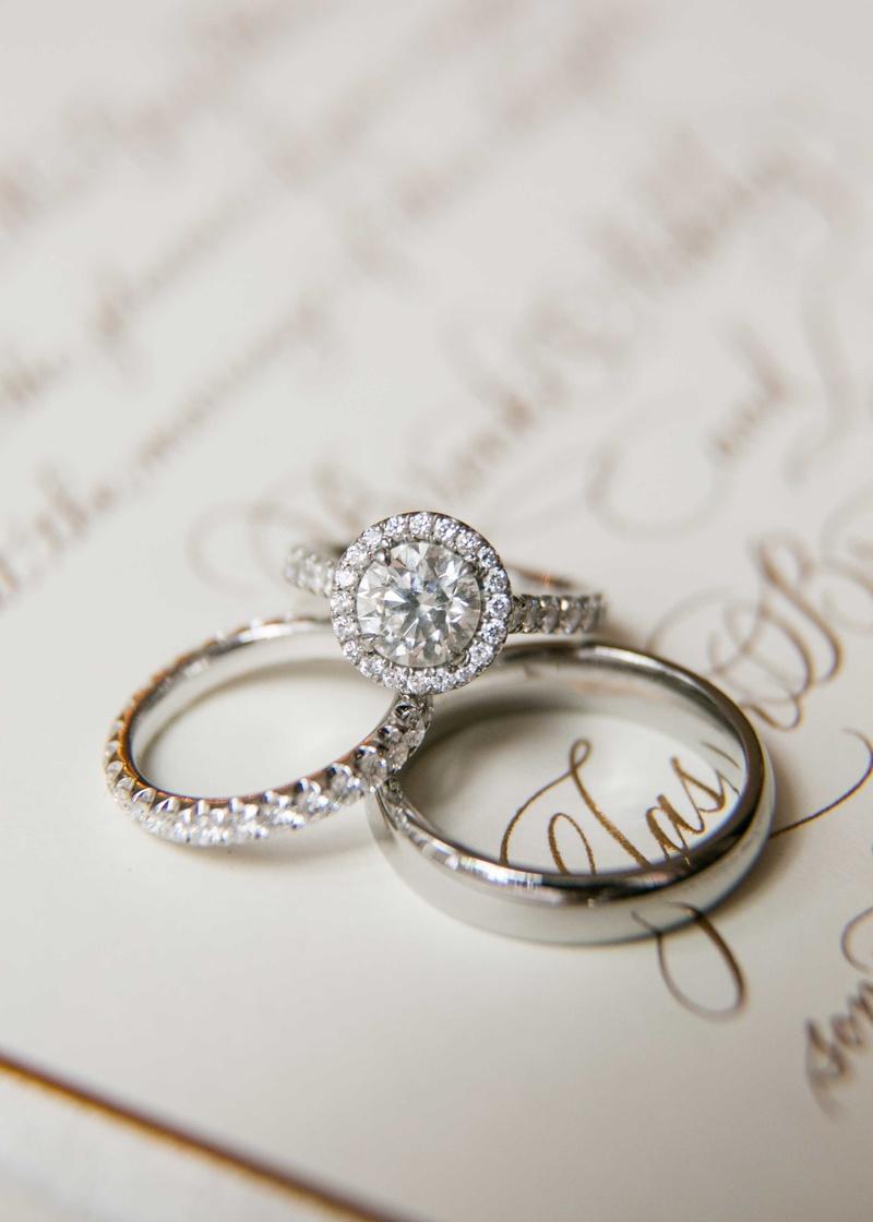 Jewelry Photos - Round Diamond with Halo Ring - Inside Weddings