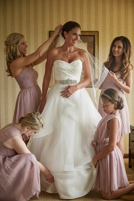 Emily had a gorgeous destination wedding in Michigan, and this timeless image of her, her daughter,