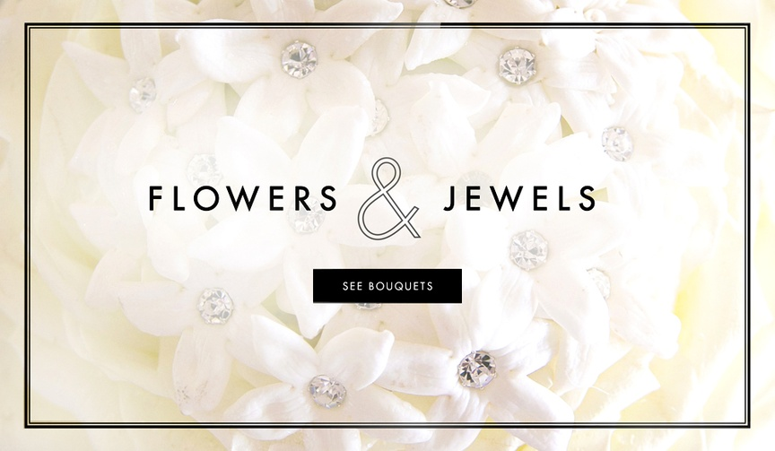Wedding bouquet ideas with jewel brooches