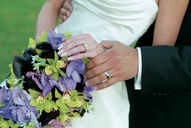 Calla lily and orchid bridal bouquet
