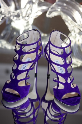 strappy royal purple jimmy choo shoes for wedding