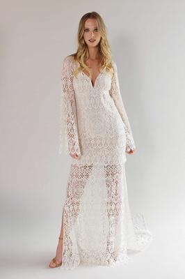 Romantique by Claire Pettibone Spring 2017 California Dreamin' Coachella boho wedding dress sleeves